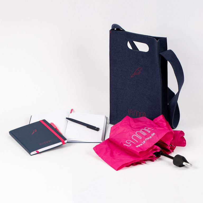 Werbemittel, O-Box, Taschen, Schirme
