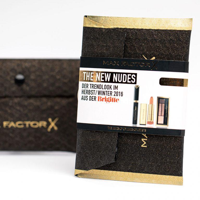 Werbemittel, O-Box, Max Factor