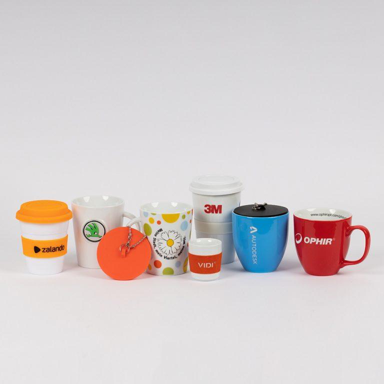 Werbemittel, O-Box, Tassen, Becher